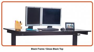 Höhenverstellbarer Schreibtisch (Rahmen schwarz / Hochglanzdeckel schwarz, Schreibtisch Länge: 150cm) - 4