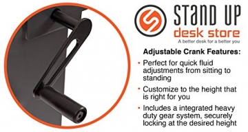 Höhenverstellbarer Schreibtisch (Rahmen schwarz / Hochglanzdeckel schwarz, Schreibtisch Länge: 150cm) - 6