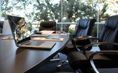 Schreibtisch Besprechung
