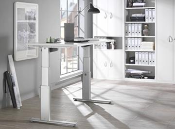 Wellemöbel Schreibtisch elektrisch höhenverstellbar – Ahorn Nachbildung -