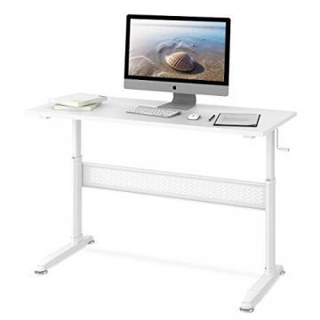 DEVAISE Höhenverstellbare Schreibtische - Stehpult mit Kurbel
