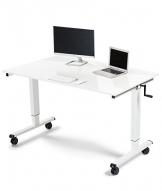 Höhenverstellbarer Schreibtisch mit Kurbel