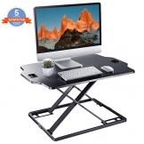 PUTORSEN Höhenverstellbar Sitz-Steh Schreibtischaufsatz