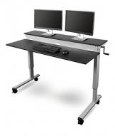 Schreibtisch Manuell Höhenverstellbar Test Bürotische Mit Kurbel
