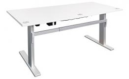Elektrischer Schreibtisch in Weiß - Dila Bürotisch