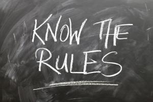 Regeln zum Stehpult